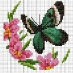 Kanaviçe Etamin Kelebek Şablonları 4