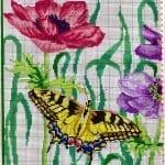Kanaviçe Etamin Kelebek Şablonları 6