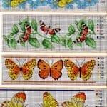 Kanaviçe Etamin Kelebek Şablonları 7