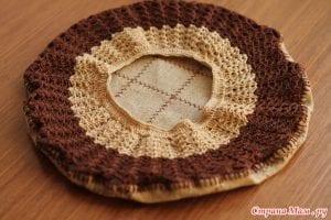 Kumaşlı Örgü Şapka Yapımı 3