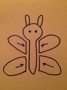 Örgü Oyuncak Kelebek Yapımı 1