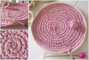 Penye İpten Çamaşır Sepeti Yapımı 10