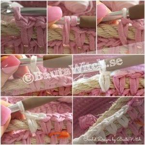 Penye İpten Çamaşır Sepeti Yapımı 6
