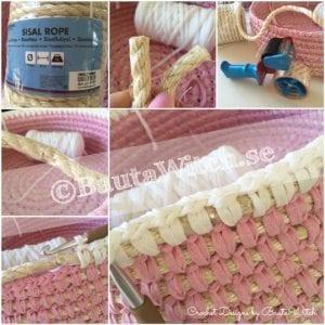 Penye İpten Çamaşır Sepeti Yapımı 7