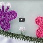 Tığ Oyası Kelebek Modelinin Yapılışı