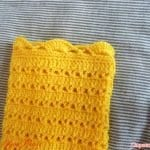 Üstü Örgü Altı Kumaş Bebek Elbisesi 9