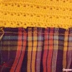 Üstü Örgü Altı Kumaş Bebek Elbisesi 15