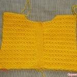 Üstü Örgü Altı Kumaş Bebek Elbisesi 18