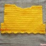 Üstü Örgü Altı Kumaş Bebek Elbisesi 19