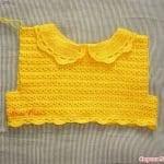 Üstü Örgü Altı Kumaş Bebek Elbisesi 25