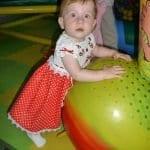 Üstü Örgü Altı Kumaş Bebek Elbisesi 4