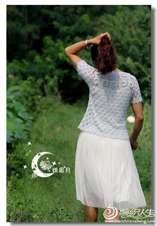 Merserize Tığ İşi Bluz Modelleri 6