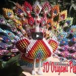 3D Origami Tavus Kuşu Yapımı 2