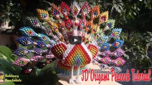 3D Origami Tavus Kuşu Yapımı