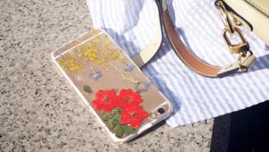 Canlı Çiçekten Telefon Kılıfı Yapımı