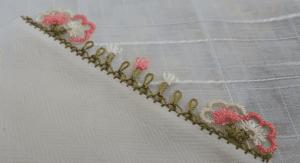 İğne Oyası Kolay Çiçek Yapımı