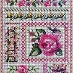 Kanaviçe Çiçek Desen Modelleri 12