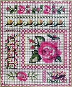 Kanaviçe Çiçek Desen Modelleri