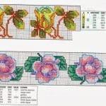 Kanaviçe Çiçek Desen Modelleri 6