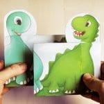 Okul Öncesi Dinozor Parmak Oyunu
