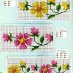 Kanaviçe Havlu Örnekleri Şemalı 75