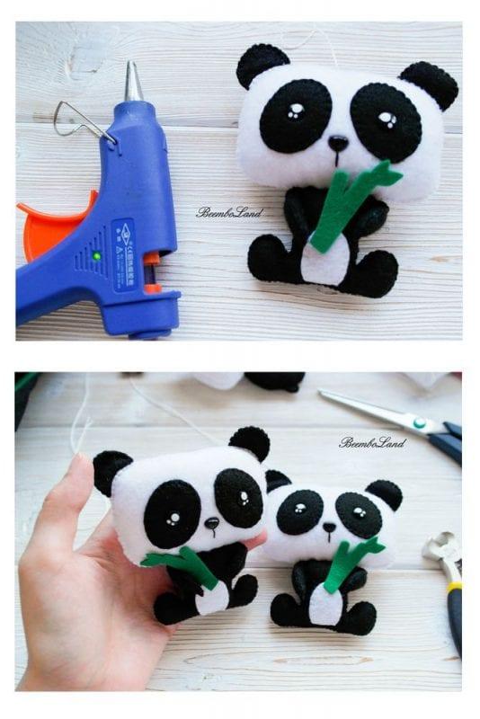 Keçe Panda Yapımı 6