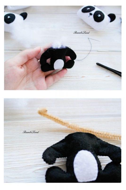 Keçe Panda Yapımı 8
