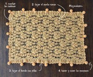 Tığ İşi Bebek Battaniyesi Örgü Modelleri Anlatımlı 2