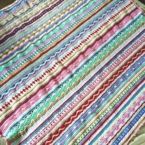 Tığ İşi Renkli Battaniye Nasıl Yapılır? 99