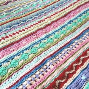 Tığ İşi Renkli Battaniye Nasıl Yapılır? 100