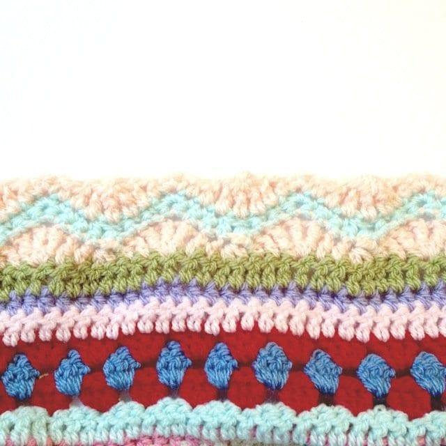 Tığ İşi Renkli Battaniye Nasıl Yapılır? 104