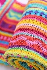 Tığ İşi Renkli Battaniye Nasıl Yapılır? 105