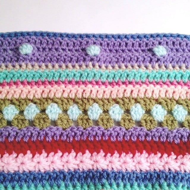 Tığ İşi Renkli Battaniye Nasıl Yapılır? 49