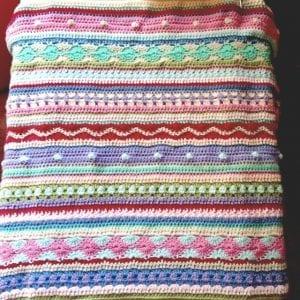 Tığ İşi Renkli Battaniye Nasıl Yapılır? 75
