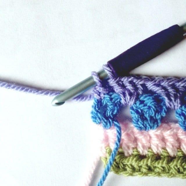 Tığ İşi Renkli Battaniye Nasıl Yapılır? 7