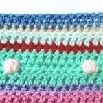 Tığ İşi Renkli Battaniye Nasıl Yapılır? 82