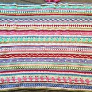 Tığ İşi Renkli Battaniye Nasıl Yapılır? 83