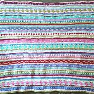 Tığ İşi Renkli Battaniye Nasıl Yapılır? 87