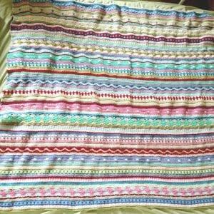 Tığ İşi Renkli Battaniye Nasıl Yapılır? 90