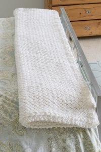 Çapraz Sepet Örgü Battaniye Yapımı 2