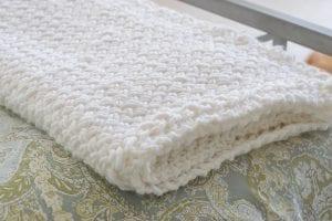 Çapraz Sepet Örgü Battaniye Yapımı