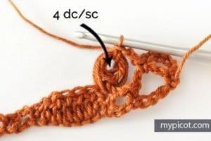 Fıstıklı Deniz Kabuğu Örgü Modeli Yapımı 4
