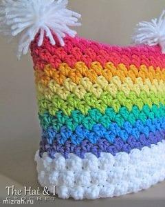 Gökkuşağı Örgü Şapka Yapımı 1