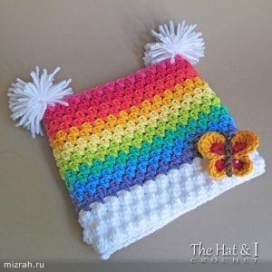 Gökkuşağı Örgü Şapka Yapımı 2