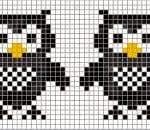 Kanaviçe Etamin Baykuş Şablonları 22