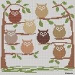 Kanaviçe Etamin Baykuş Şablonları 28