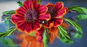 Kurdeleden Çiçek Yapımı