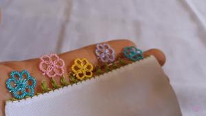 Sık İğneli İğne Oyası Çiçek Yapımı