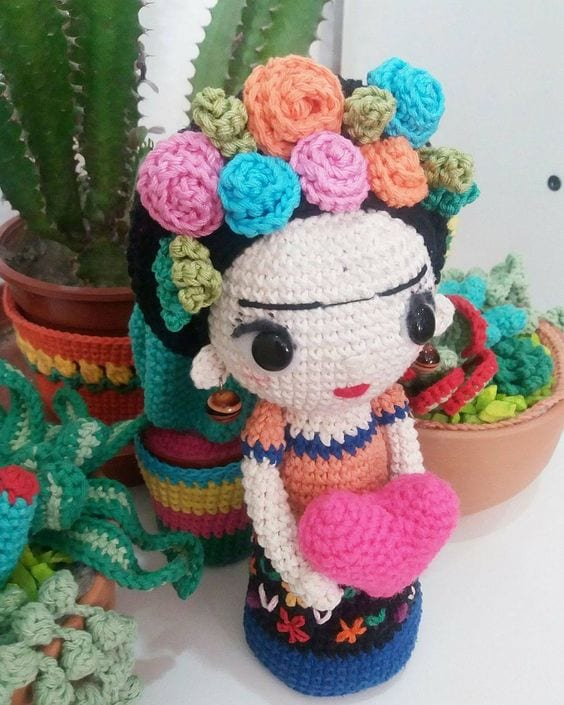 Amigurumi Frida Kahlo Modelleri 11