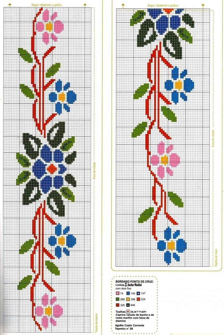 Схемы вышивок крестом на полотенце